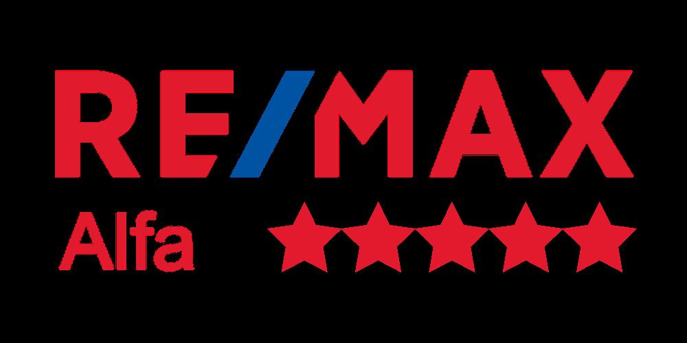 remax alfa logo pet hvězd